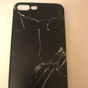 Accessories - Black marble IPhone 7 plus case